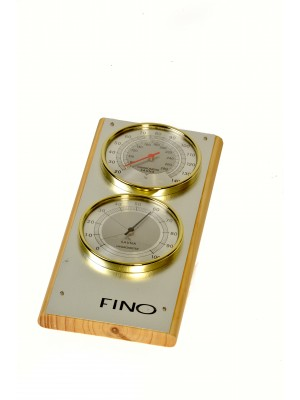 """Vertical 2 Dial 4"""" Each Dial Stainless Steel Sauna Thermometer / Hygrometer (Side View)"""