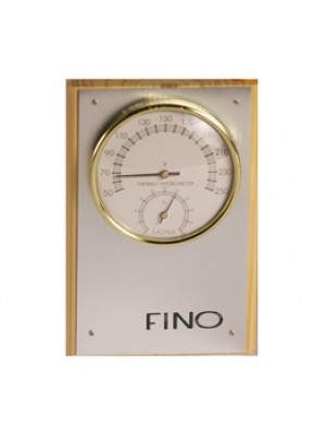 Vertical 1 Dial Stainless Steel Sauna Thermometer / Hygrometer