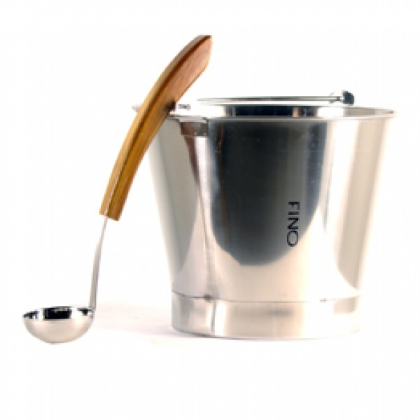 FINO Bucket, 2.5 Gallon Stainless Steel including matching Ladle