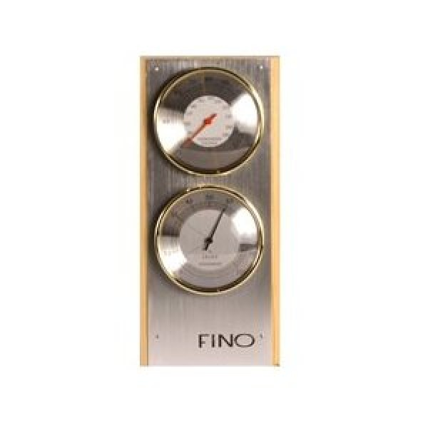 """Vertical 2 Dial 4"""" Each Dial Stainless Steel Sauna Thermometer / Hygrometer"""